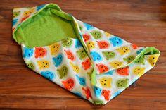 Kostenlose Nähanleitung für ein Baby Handtuch mit Kapuze