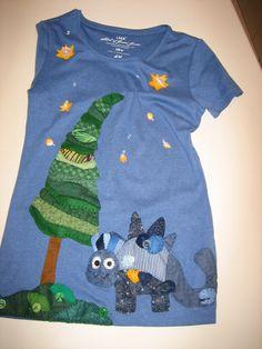 maglia con dinosauro