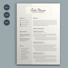 Making A Resume On Word Resumecv Template  Gabrielle Cooke Creative…  Resume Templates .