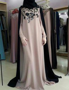 No automatic alt text available. Islamic Fashion, Muslim Fashion, Modest Fashion, Fashion Dresses, Kaftan Designs, Mode Abaya, Hijab Style, Abaya Style, Hijab Trends