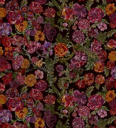 Jeffery Rose Tree - Ruby fabric, from the The Secret Garden collection by Liberty Art