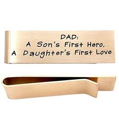 O.RIYA Stainless Steel Money Clip For Father's Day jewelry Gift For Father Son's Hero Daughter's Love