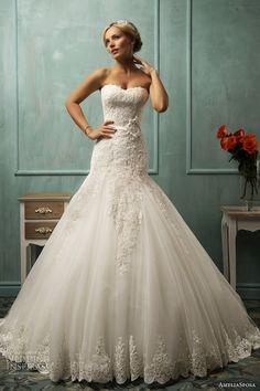 Classic lace drop waist ball gown  wedding dress