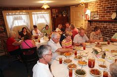 TRAVEL LIKE A LOCAL Savannah, Georgia~~~Mrs. Wilkes' dining room.   Eat family style~~~