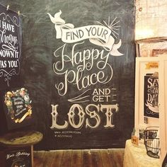 Chalkboard wall mural - chalk art by Jazzy Chalks