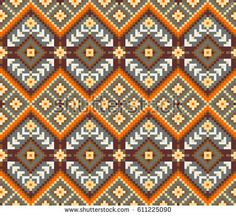 Ethnic pattern, geometric seamless background.