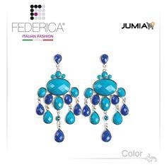 Earrings SUSY 1  Faceted drop pendant resin earrings. Blue. 2,100.00 Ksh http://www.federicafashion.com/ep38/earrings-susy-1/ http://www.jumia.co.ke/federica-fashion/