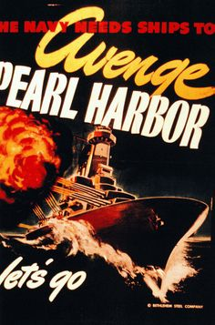 """44-PA-1945: Half-tone image of a photograph, WWII Recruiting Poster. """"The Navy…"""