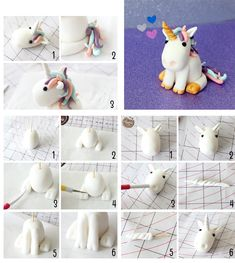 Unicorn cake topper birthday edible unicorn model - Her Crochet Fondant Cake Toppers, Fondant Figures, Birthday Cake Toppers, Unicorn Themed Birthday, Unicorn Party, Cake Decorating Techniques, Cake Decorating Tips, Fondant Animals, Unicorn Cake Topper