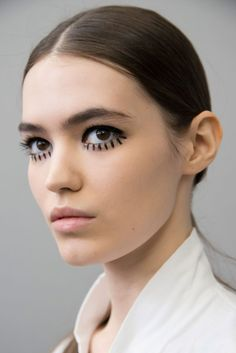 Dior Fall 2019 Fashion Show Backstage Beauty. Designer ready-to-wear looks from Fall 2019 runway shows from Paris Fashion Week
