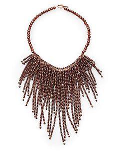 Brunello Cucinelli Beaded Fringe Necklace
