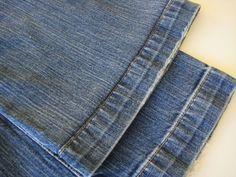 How to Hem Jeans Using the Original Hem - Home Ec 101