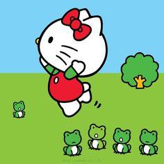 hello kitty celebrates frog jumping day (may 13th)