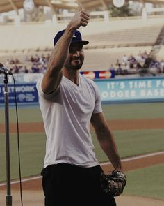 Tyler Hoechlin. At Dodger Stadium.  My panties just dropped so hard they are halfway to China.