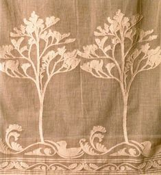 The Seagull by C.F.A. Voysey  Cotton Madras muslin woven in Scotland  Reproduction lace curtains
