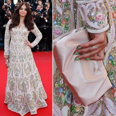 Aishwarya Rai Bachchan made heads turn once again at the 66th Cannes Film Festival, as she walked the red carpet in a white Abu Jani Sandeep Khosla floor-length anarkali with colourful heavy embroidery for the premiere of Blood Ties. And must we say that she looked pretty and is back definitely back in shape. Wow! (Reuters)