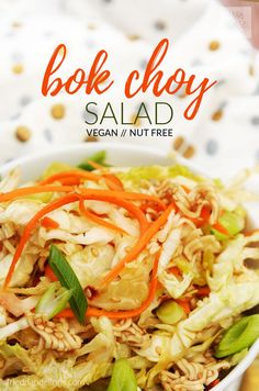 This Bok Choy Salad was a staple in my childhood, and it's just as delicious as I remember it!  It makes a perfect no cook dinner!