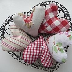 Fabric hearts by loretta