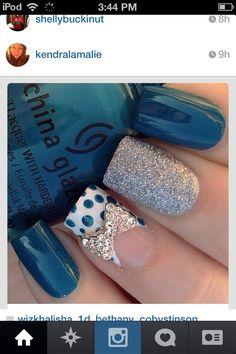 Cute :) | Love nail art? Follow http://www.pinterest.com/thevioletvixen/bold-nails/ for more!