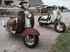 The Scooter Rider El lado oscuro poderoso es #lambretta