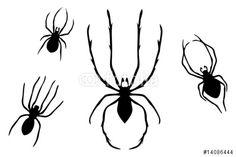 """Laden Sie den lizenzfreien Vektor """"Collection of Spiders"""" zum günstigen Preis herunter. Stöbern Sie in unserer Bilddatenbank https://de.fotolia.com/partner/200576682 und finden Sie schnell das perfekte Stockbild."""