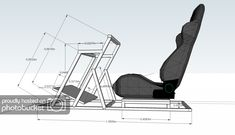 My new DIY rig - WIP - Sim Racing Rigs / Cockpit - InsideSimRacing Forums racing car setup Racing Seats, Racing Wheel, Diy Craft Projects, Projects To Try, Car Interior Upholstery, Racing Simulator, Room Setup, Wooden Diy, Gaming Chair