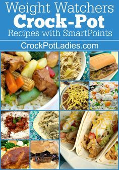 Pin on Slow Cooker A collection of over 180 Weight Watchers Crock-Pot Recipes with FreeStyle SmartPoints listed! Updated frequently with new WW friendly slow cooker recipes! Weight Watcher Dinners, Weight Watchers Program, Plats Weight Watchers, Weight Watchers Diet, Weight Watchers Points Calculator, Weight Watchers Freezer Meals, Healthy Crockpot Recipes, Ww Recipes, Slow Cooker Recipes