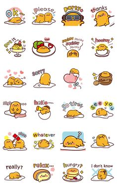 Just because you may not have the motivation, it doesn't mean you can't get your message across. Let gudetama show you how it's done. Crack open an egg of easy-going feels today! Kawaii Doodles, Cute Kawaii Drawings, Cute Doodles, Cute Doodle Art, Cute Art, Kawaii Wallpaper, Wallpaper Iphone Cute, Kawaii Stickers, Cute Stickers