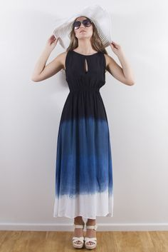 Traveller's Maxi Dress - Navy by House of S K Y E
