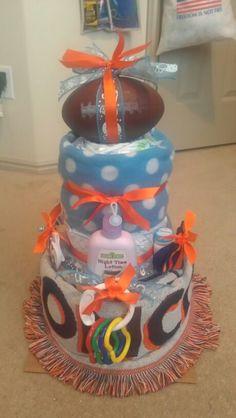 Broncos diaper cake