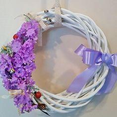 #wianek #wiosna #wielkanoc #dekoracje #kwiaty #kokardka #wreath #spring #Easter #design #decorations