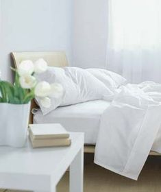 """It's not just about thread count―learn what words are key when shopping for high-quality sheets. I want organic sheets labeled as """"Egyptian long-staple,"""" """"pima,"""" or """"Supima"""" (all denote high-quality long fibers). Clean Sheets, White Sheets, Home Bedroom, Master Bedroom, Bedroom Decor, Bedrooms, Bedroom Ideas, Cotton Sheets, Cotton Bedding"""