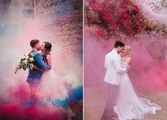 Renk bombası pop art düğün fotoğraf çekimi hareketli pozlar | Kadınca Fikir - Kadınca Fikir