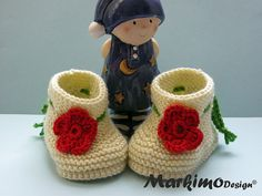 Baby shoes  Baby clothes Baby boots Baby booties handmade by MarkimoDesign®