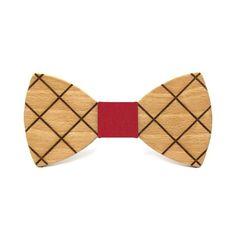 Pajarita de madera con líneas cruzadas. El clásico de siempre, más elegante.  INFORMACIÓN ADICIONAL Pajarita hecha en madera de haya.  115mm x 60mm.  Nudo intercambiable Band, Fashion, Tela, Tie Dye Outfits, Bow Ties, Knots, Wood, Elegant, Dressmaking