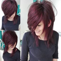 Hair Cutting Style how to style emo hair without cutting it Medium Hair Cuts, Short Hair Cuts, Medium Hair Styles, Curly Hair Styles, Haircut Medium, Emo Haircuts, Great Hair, Gorgeous Hair, Hair Looks