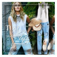 """""""Summer Denim"""" by monazor ❤ liked on Polyvore featuring Paige Denim, Filles à papa, Frame Denim, Trilogy, Chan Luu, FEIT, T-shirt & Jeans, Nordstrom, denim and casualoutfit"""