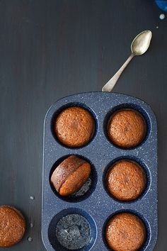 South African Malva Pudding Mini Cakes with Cream Sauce