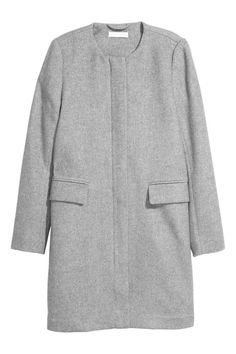 Wool-blend coat - Light grey - Ladies | H&M GB