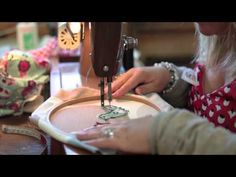 Learn how to do freehand machine embroidery