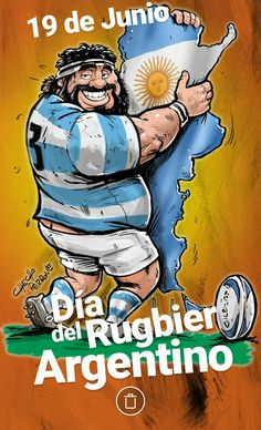 Rugby Día del Rugbier Argentino Checho Perrone Kevingston Pumas, Wrestling Shoes, Rugby League, Badminton, Olympic Games, Caricature, Olympics, Comics, Illustration