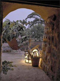 Country house in Salento Wabi Sabi, Outdoor Rooms, Outdoor Gardens, Acapulco Chair, Crazy Houses, Futuristic Home, Rustic Stone, Stone Houses, Countryside