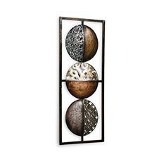 Fabulous Wandbild Wandobjekt cm Wanddeko Metall Braun Kupfer Gol https