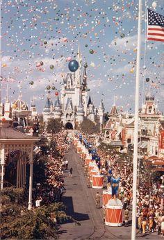 Walt Disney World - opening day.