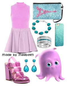"""Pearl (Finding Nemo)"" by rheebavn ❤ liked on Polyvore featuring moda, Steve Madden y Forever New"