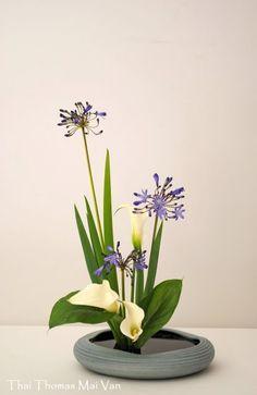 L'art floral japonais Ikebana, Thai Thomas Mai Van l'a dans la peau. Contemporary Flower Arrangements, Tropical Floral Arrangements, White Flower Arrangements, Arte Floral, Deco Floral, Arrangements Ikebana, Ikebana Flower Arrangement, Flower Show, Flower Art