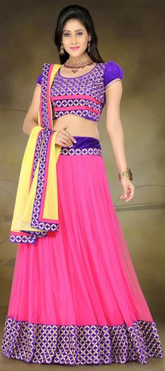 139218: #pink #lehenga #monotone #optical #geometry #bridalwear #wedding #bridesmaid #sale #Christmas #sale #onlineshopping