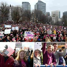 Boston, San Francisco, London, Sydney — D.C.'s massive protest has spawned sister marches in all 50 states and hundreds of cities across seven continents. Here's a glimpse of some of the biggest.