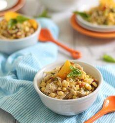 Sweet Corn, Peach & Honey Mustard Chicken Salad | Tasty Kitchen: A Happy Recipe Community!
