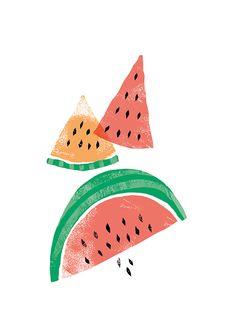 Risultati immagini per watermelon illustration